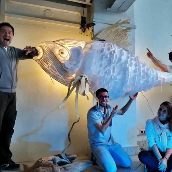 imagen noticia: Mañana montaremos este pez en un lugar bonito de DONOSTI