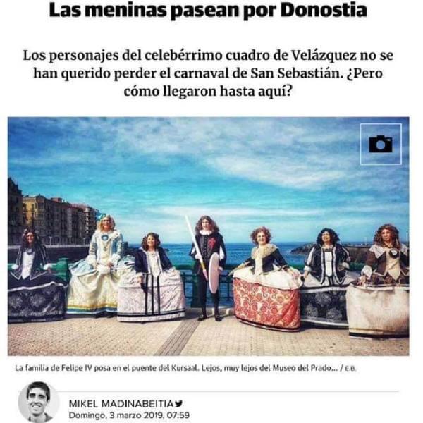 imagen noticia: Artículo sobre las meninas en el DIARIO VASCO