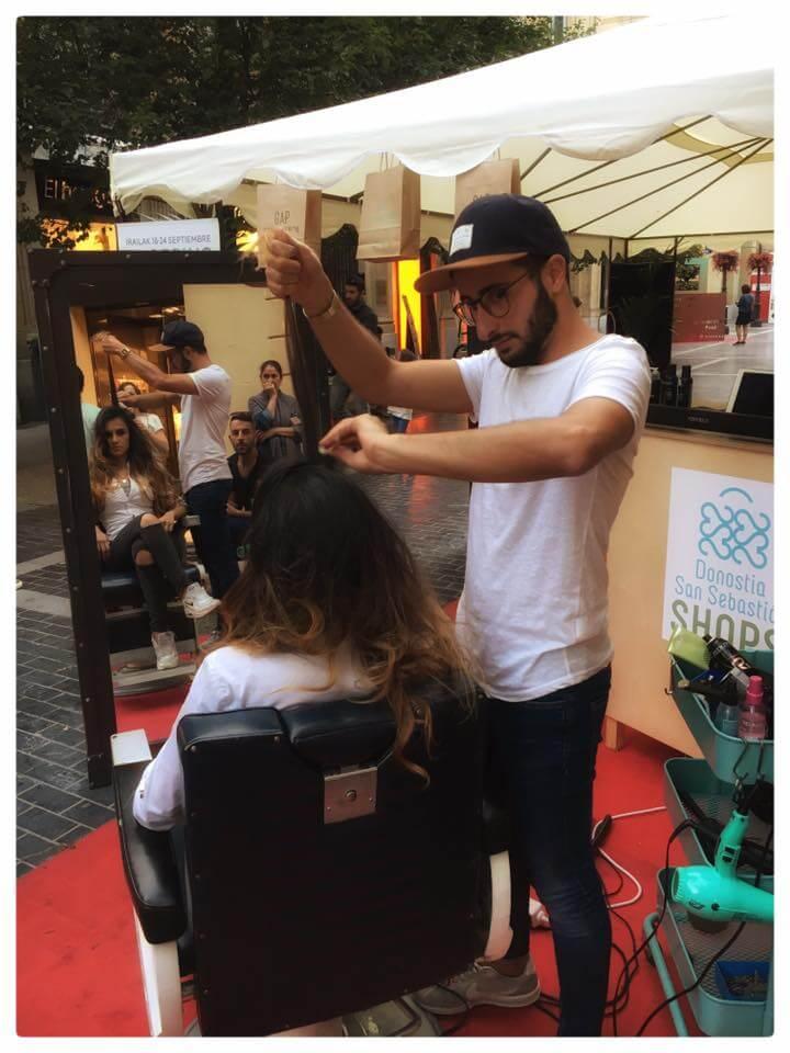 Foto noticia Sidra y peinados en la carpa de SAN SEBASTIÁN SHOPS